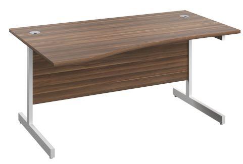 Draycott 1600mm Left Hand Wave Desk In Walnut