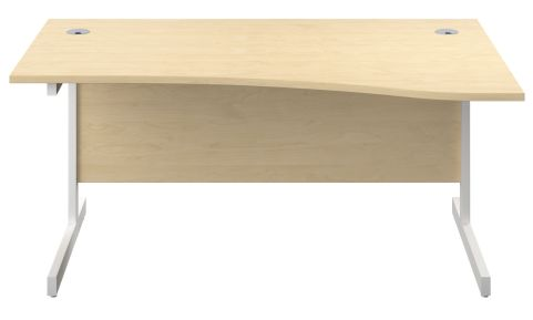 Draycott 1600mm Right Hand Wave Desk In Maple