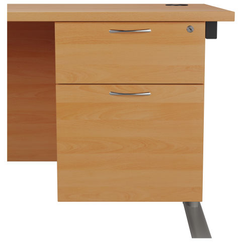 Draycott Two Drawer Fixed Pedestal In Beech