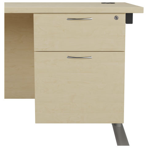 Draycott Two Drawer Fixed Pedestal In Maple