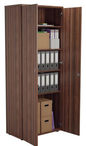 Draycott Tall Wooden Cupboard In Walnut