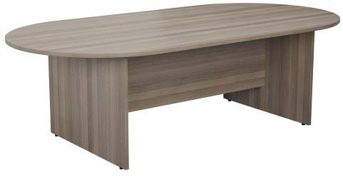 Draycott Barrel Meeting Table In Grey Oak