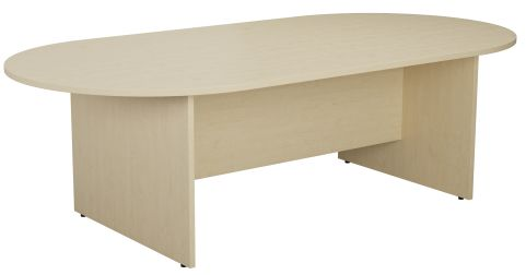 Draycott Barrel Meeting Table In Maple Angle View