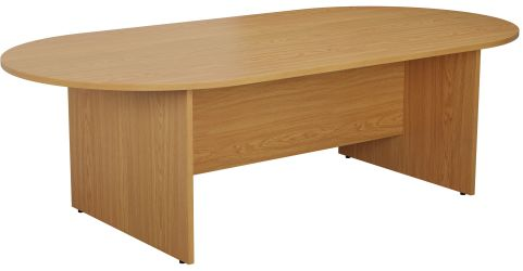 Draycott Barrel Meeting Table In Oak Angle View