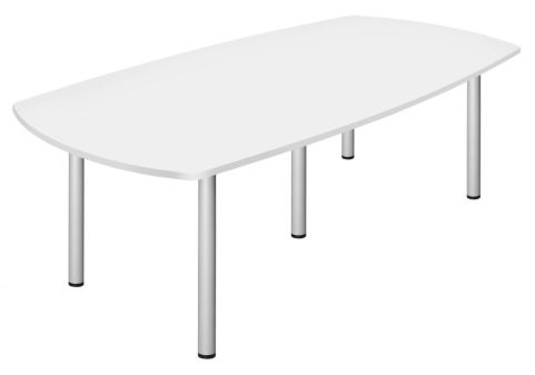 Draycott Barrel Table With Metal Legs And A White Top