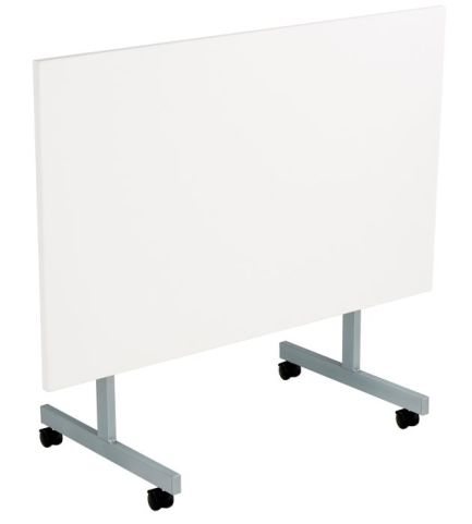 Draycott Flip Top Table In White Folded