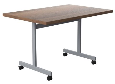 Draycott Rectangular Flip Top Table With A Walnut Top Angle View