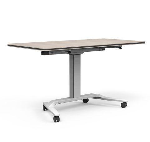 Talent Flip Top Height Adjustable Table On Castors