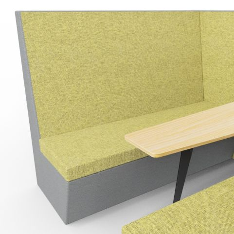 Standa 6 Person Acoustic Den - Without Arms - Dark Grey & Green - Close Up 1