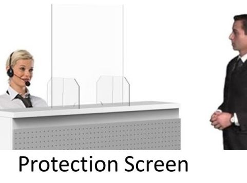 Safe Reception Privacy Screens Pack Of 5