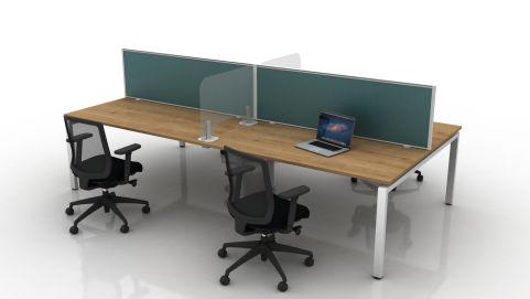 Future Sneese Screens Between Desks With Metal Foot