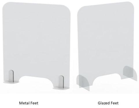 Glazed And Metal Feet