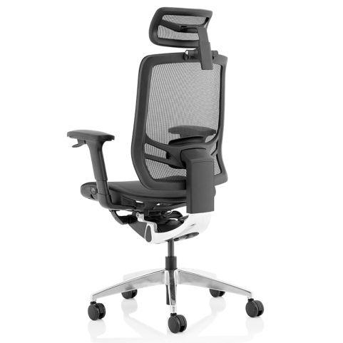 Dynamo Mesh Task Chair With Headrest - Rear
