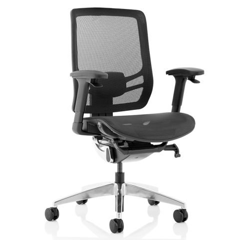 Dynamo Mesh Task Chair Without Headrest - Front