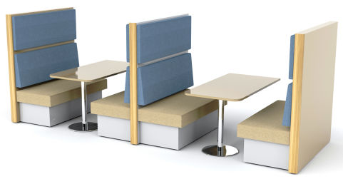 Sona 8 Person Dining Booth - Alternate Colours