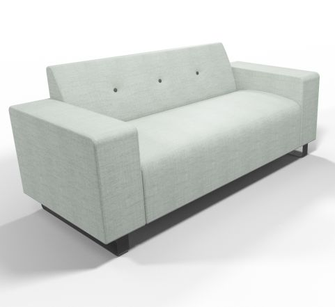 Ralph Sofa 2 Seater - Office Reality - Grey Fabric