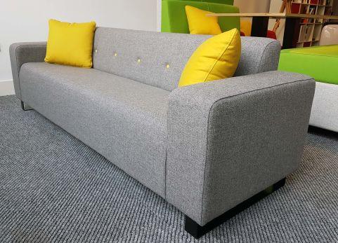 Rallf Sofa Light Grey Fabric Office Reality
