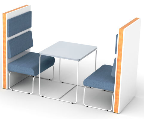 Setta 2 Person Vinyl Booth With Loop Frame