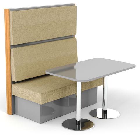 Sona 2 Person Single Seat & Table