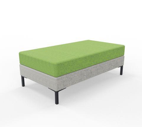 Bruce 2 Seater Stool Blazer Green And Grey Fabrics