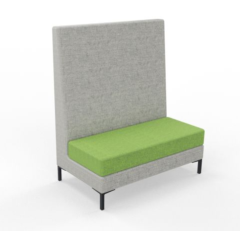 Bruce High Back Sofa 2 Seater Blazer Fabric Grey And Green Seat