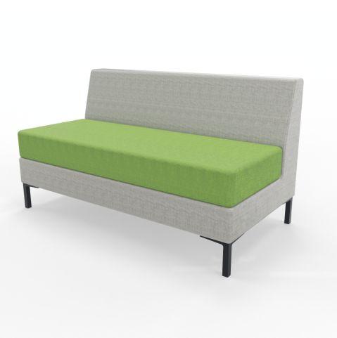 Bruce Sofa's 2 Seater Green Seat Grey Blazer Back
