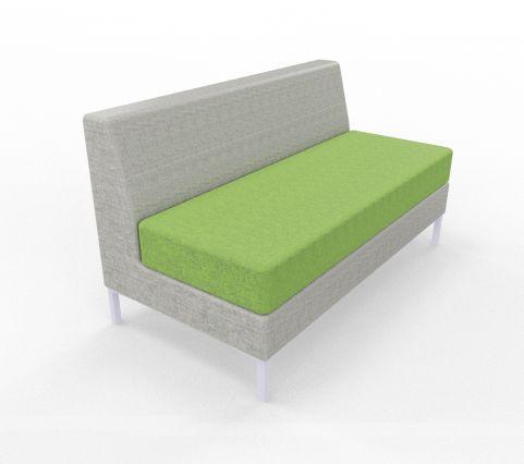 Bruce Sofa's 2 SEATER UNIT Green And Grey Fabric Blazer