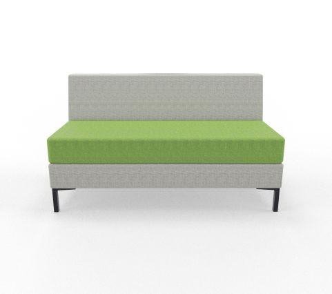 Bruce Sofa's P 2 Seater Blazer Fabric Green Seat Light Grey Back