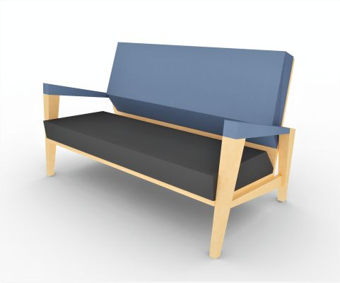 Shard 2 Seater Sofa Side View
