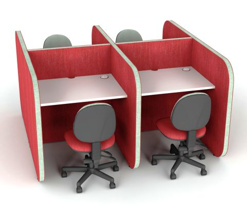 Flexi Face To Face 4 Person Work Booth