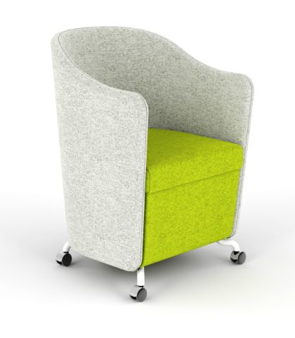 Flower Tub Chair Lime Green Seat And Light Grey Arms
