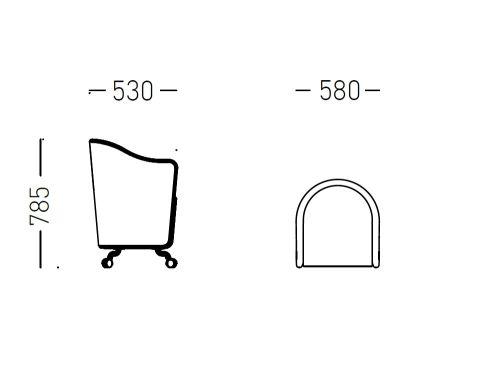 Flower Tub Chair Dimensions