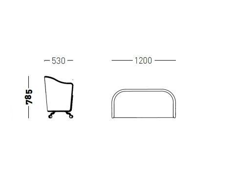 Flower Tub Sofa Dimensions