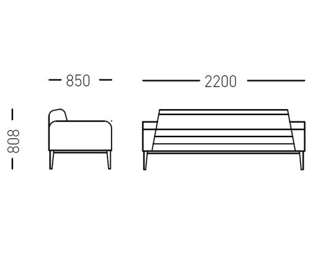 Contour Three Seater Sofa Dimensions