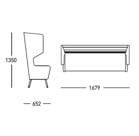 Saloon Arm Sofa Dimensions - Office Reality