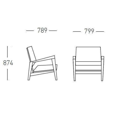 Shard Arm Chair Dimensions 799mm Wide X 789mm Deep X 874mm High