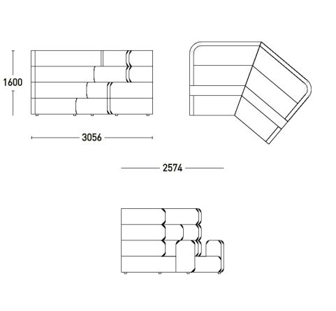 Plaza Stadium Seating Dimensions 1600mm High X 2574mm Deep