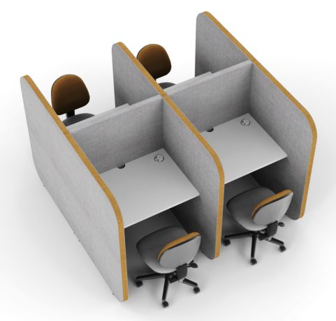 Flexi Face 2 Face 4 Person Work Booth 1350mm High