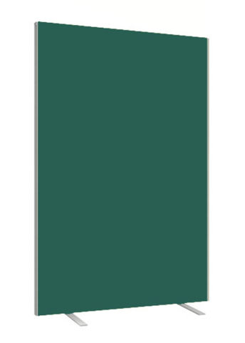 Green Freestanding Fabric Screen With Silver Trim