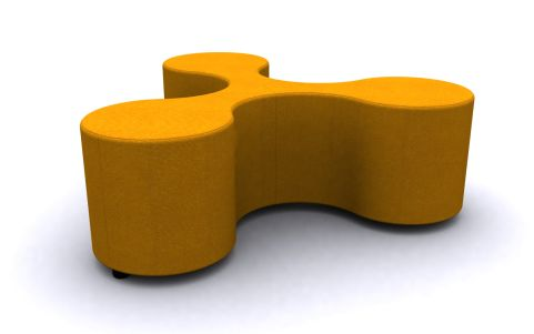 DNA Low Stool 1329mm Wide