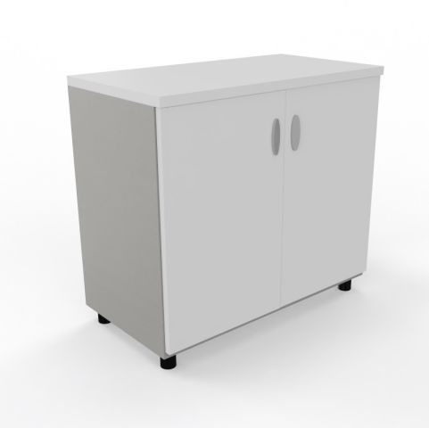 Armada Low Storage Cupboard White Graphite Body
