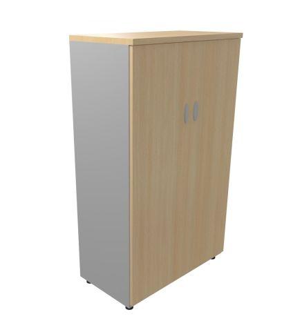 Armada Medium High Storage Cupboard Roayl Light Oak Graphite Body