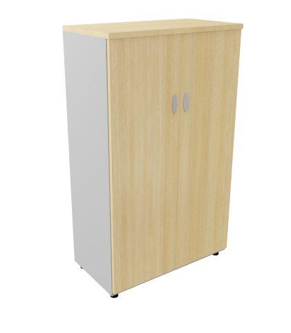 Mid High Cupbord Liight Oak Aluminium Sides 1