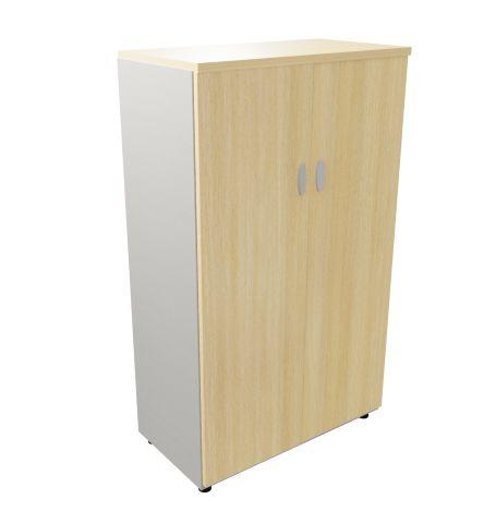 Mid High Cupbord Liight Oak Aluminium Sides