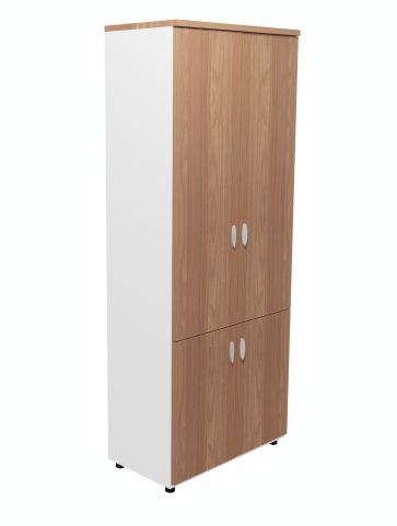 Armada Tall Cupboard Wit Lower Cupboard In Amber Walnut