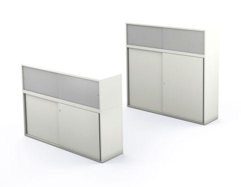 Armada Sliding Door Storage With Glass Doors