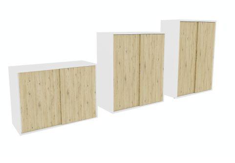 Armada Sliding Door Cupboards Brunswick Oak Doors