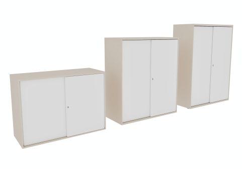 Armada Sliding Door Cupboards Cashmere Grey Doors