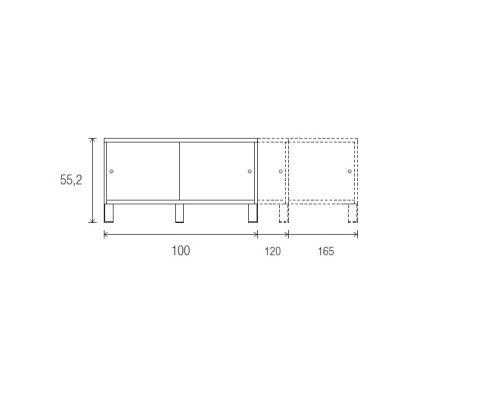 Low Cupboard 552mm X 1000 1200 1650mm