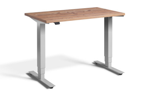 Rapid Mini Height Adjustable Desk Silver Frame- Timber Top